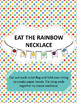 Eat the Rainbow Matching Cards & Necklace (Vegetables)