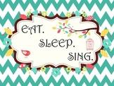 Eat.Sleep.Sing Chevron Bird