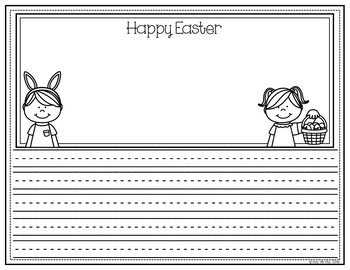 EASTER Coloring and Writing Pages, Color Sheets, Creative Writing