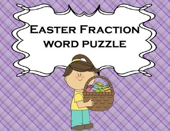 Fractions Easter for Math or Reading Centers