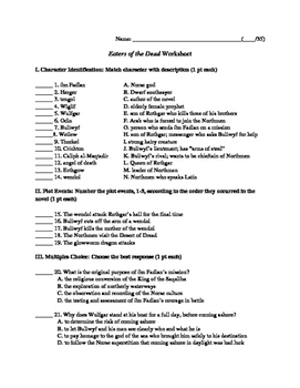 Eaters of the Dead Worksheet