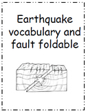 Earthquake Faults, Vocabulary and Foldable