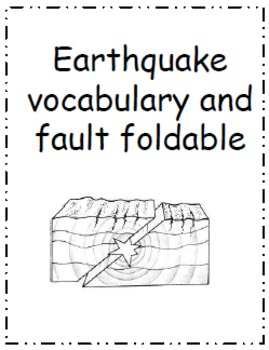 earthquake faults vocabulary and foldable by sarah olsen and portable teaching. Black Bedroom Furniture Sets. Home Design Ideas