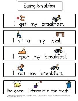 Eating Breakfast Social Story