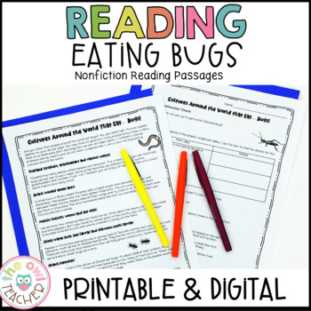 Eating Bugs Nonfiction Reading Passages