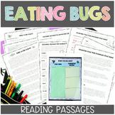 Eating Bugs Nonfiction Reading Passages Printable & Digita