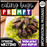 Distance Learning | Eating Bugs Opinion Writing Prompt wit