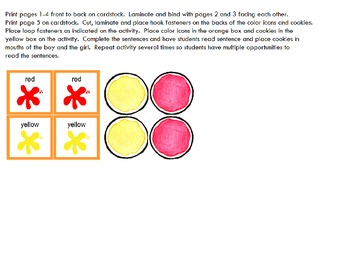 Symple Readers Week 4: Eating Cookies Color Recognition