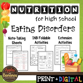 Eating Disorders - Interactive Note-Taking Materials