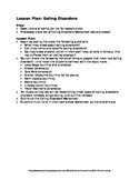 Eating Disorders Lesson Plan and Worksheet