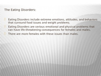 Eating Disorders Power Point