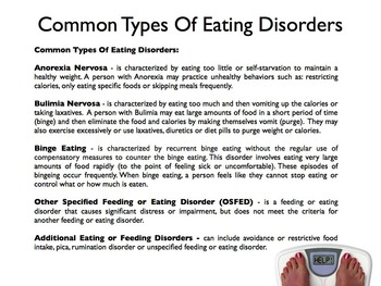 Eating Disorders PowerPoint