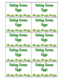 Eating Green Eggs Game for Read Across America Day