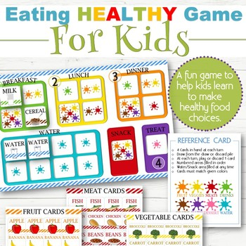 Eating Healthy Game for Kids - INSTANT DOWNLOAD