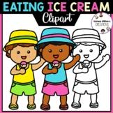 Eating Ice Cream Clipart