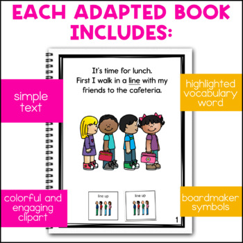 Eating Lunch: A Social Story Adapted Book for Special Education Students