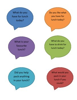 Eating Lunch Together - Visual Support for Special Educati