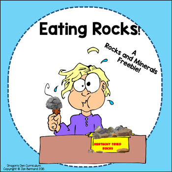 Eating Rocks A Rocks and Minerals Freebie!