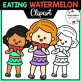 Eating Watermelon Clipart