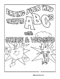 Fruit and Veggie ABC Coloring Book