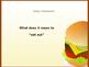 Eating in Restaurants-foods