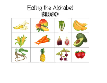 Eating the Alphabet BINGO