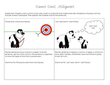 Eats, Shoots & Leaves Comma Comics