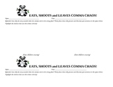 Eats Shoots and Leaves Comma Chaos Printable