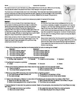 Ebola ACT Science Reading Prep