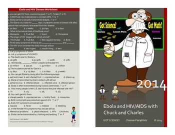 Ebola and HIV/AIDS disease series posters and worksheet
