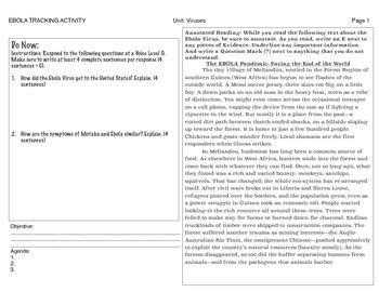 Ebola vs. Motaba Activities and Quiz