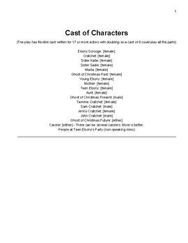 Ebony Scrooge stage play script