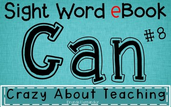 Ebook-Sight Word 'Can'