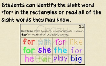 Ebook-Sight Word 'For' (Benchmark Advance Kindergarten Series)