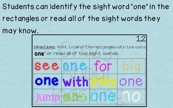 Ebook-Sight Word 'One' (Benchmark Advance Kindergarten Series)