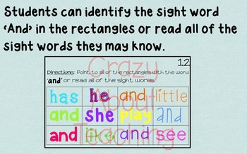 Ebook-Sight Word 'And' (Benchmark Advance Kindergarten Series)