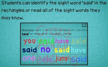 Ebook-Sight Word 'Said' (Benchmark Advance Kindergarten Series)