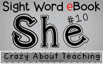 Ebook-Sight Word 'She' (Benchmark Advance Kindergarten Series)