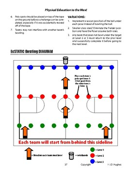 EcSTATIC Bowling Cooperative PE Game to complete Static Balance Challenges
