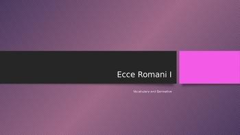 Ecce Romani Chapter 1 Vocabulary and Derivatives
