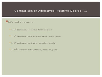 Ecce Romani Chapter 34: Comparison of Adjectives