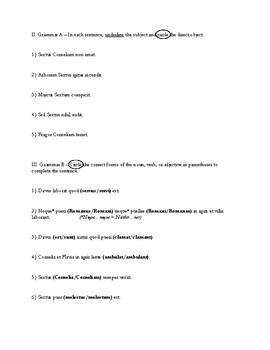 Ecce Romani - Short Test Ch.3-4 (with key)