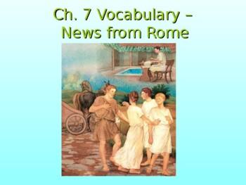 Ecce Romani I Ch. 7 Vocabulary PowerPoint