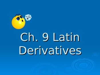 Ecce Romani I Ch. 9 Derivative PowerPoint