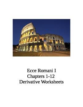 Ecce Romani I Chs. 1-12 Bundled Derivative Worksheets