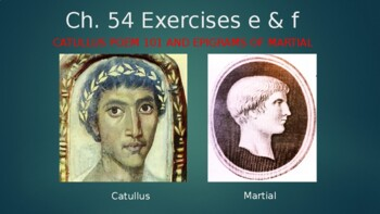 Ecce Romani II Ch. 54 Exercises e & f Vocabulary PowerPoint
