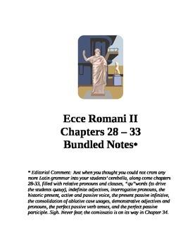 Ecce Romani II Chapters 28-33 Bundled Notes