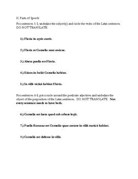 Ecce Romani - Short Test Ch.1-2 (with key)
