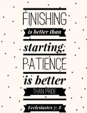 Eccl. 7:8 - Finishing is Better...