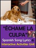 Echame la Culpa Spanish Song Lyrics and Fun Activities - Luis Fonsi Demi Lovato